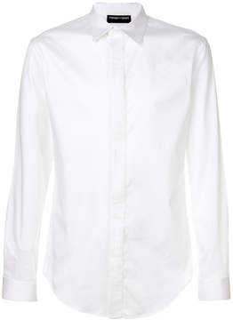 Emporio Armani pleated placket shirt