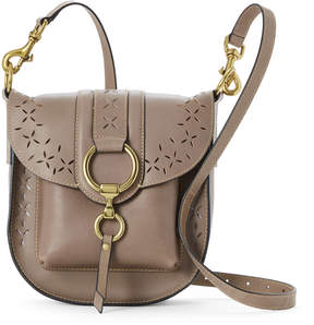 Frye Cement Ilana Perforated Leather Crossbody