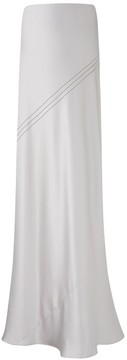 Amanda Wakeley Oleta Silver Silk Skirt