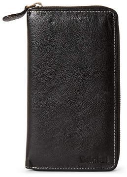 Timberland Black Leather Zip-Around Wallet
