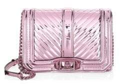 Rebecca Minkoff Metallic Chevron Quilted Crossbody Bag