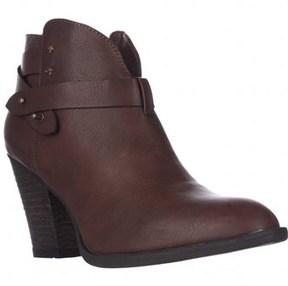 XOXO Karol Short Western Heeled Ankle Boots, Brown.