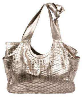 Jimmy Choo Metallic Perforated Leather Hobo