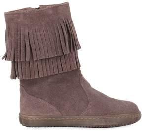Pépé Suede Boots W/ Fringe