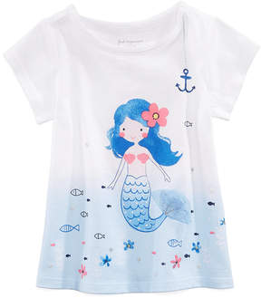 First Impressions Mermaid Graphic-Print T-Shirt, Baby Girls, Created for Macy's