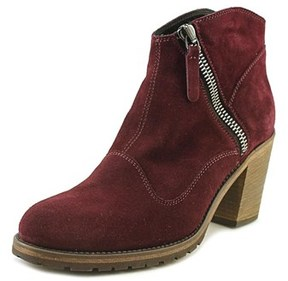 Belstaff Radcot Women Round Toe Suede Burgundy Ankle Boot.