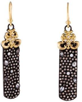 Armenta Diamond & Sapphire Old World Drop Earrings