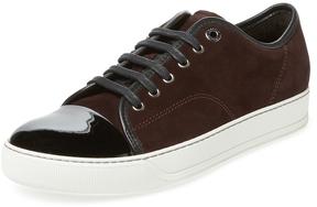 Lanvin Men's Patent Cap-Toe Sneaker