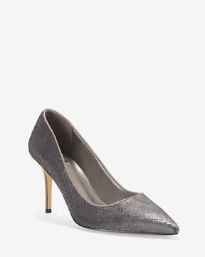 White House Black Market Hematite Sequin Heels
