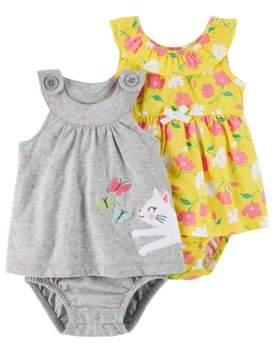 Carter's Baby Girl Dress & Diaper Cover, 2-pack