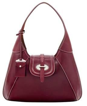 Dooney & Bourke Florentine Toscana Front Stitch Hobo Shoulder Bag. - BORDEAUX - STYLE