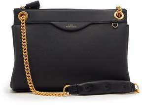 Anya Hindmarch Double Zip Leather Shoulder Bag - Womens - Navy