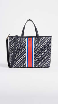 Tory Burch Gemini Link Small Tote - GRAY - STYLE