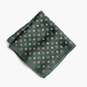J.Crew Wool flannel pocket square in medallion pattern