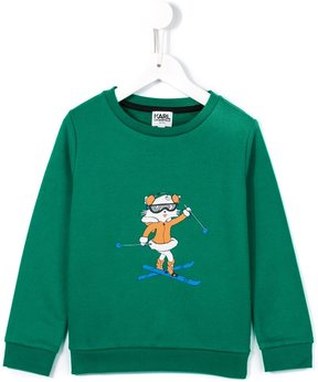 Karl Lagerfeld skiing Choupette sweatshirt