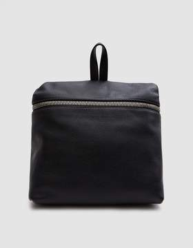 Kara Leather Backpack in Black
