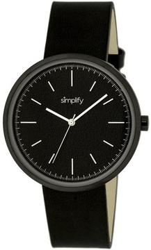 Simplify The 3000 Collection SIM3001 Unisex Watch with Leather Strap