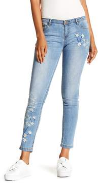 Desigual Floral Embroidered Jeans