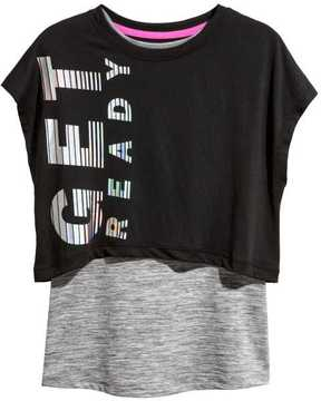 H&M Double-layered Sports Top