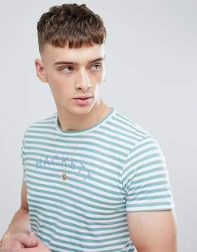 Hackett Mr. Classic Stripe T-Shirt in Green