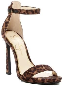 Jessica Simpson PRESSY Satin Platform Sandal NATURAL LEOPARD