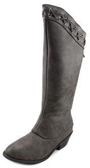 Volatile Lynah Round Toe Leather Mid Calf Boot.