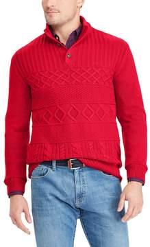 Chaps Men's Classic-Fit Cable-Knit Mockneck Sweater