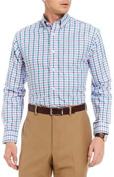 Daniel Cremieux Signature Multi Check Pinpoint Long-Sleeve Woven Shirt