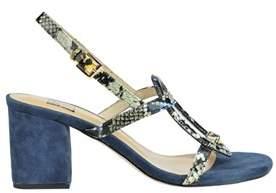 Bibi Lou Women's Blue Leather Sandals.