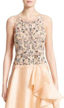Badgley Mischka Couture Beaded Top