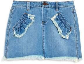 Blank NYC BLANKNYC Girls' Ruffle-Trimmed Denim Skirt - Big Kid