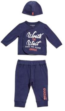 GUESS Boy's Take Me Home Set (0-12m)
