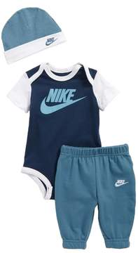Nike Infant Boy's Bodysuit, Jogger Pants & Beanie Set