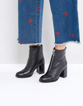 Faith Bip Front Zip Ankle Boots