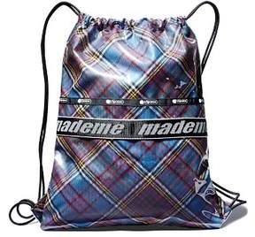 Le Sport Sac x Made Me Plaid Fabric Drawstring Backpack