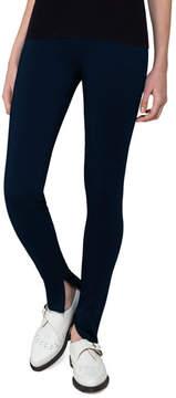 Akris Fria Skinny Side-Zip Pants, Blue