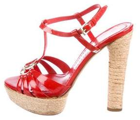 Christian Dior Patent Leather Platform Sandals