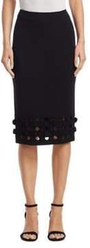 Akris Punto 3D Dot Cutout Midi Pencil Skirt