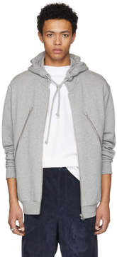 Maison Margiela Grey Five-Zip Hoodie