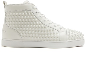 Christian Louboutin Yang Louis high-top spike-embellished trainers