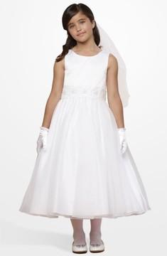 Us Angels Girl's Beaded Waist Dress