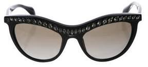 Prada Cat-Eye Embellished Sunglasses