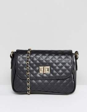 Asos Quilted Lock Cross Body Bag