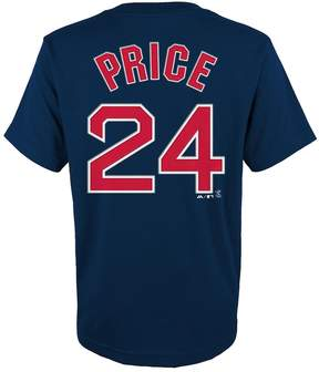 Majestic Boys 8-20 Boston Red Sox David Price Player Name and Number Tee