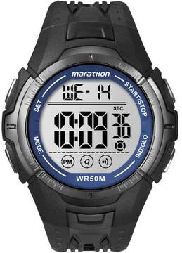 Timex Marathon by Men's Digital Full-Size Watch, Black Resin Strap
