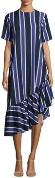 Edit Women's Asymmetric Oversized Peplum Dress