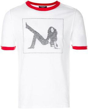Calvin Klein contrast-trim printed T-shirt