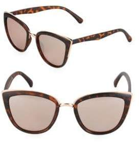 Fantas-Eyes Graphic 51MM Cat Eye Sunglasses