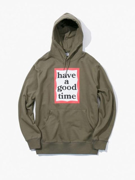 Have A Good Time Frame Pullover Hoodie - Olive