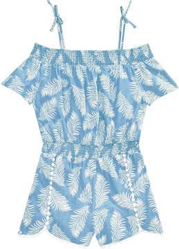 Epic Threads Little Girls Leaf-Print Romper, Created for Macy's